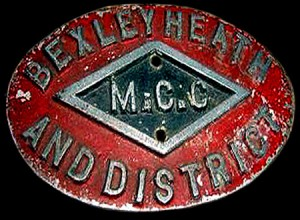 Bexleyheath & District MCC badge c.1930