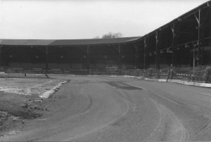 The new Crayford track viewed from the 4th bend looking down the home straight