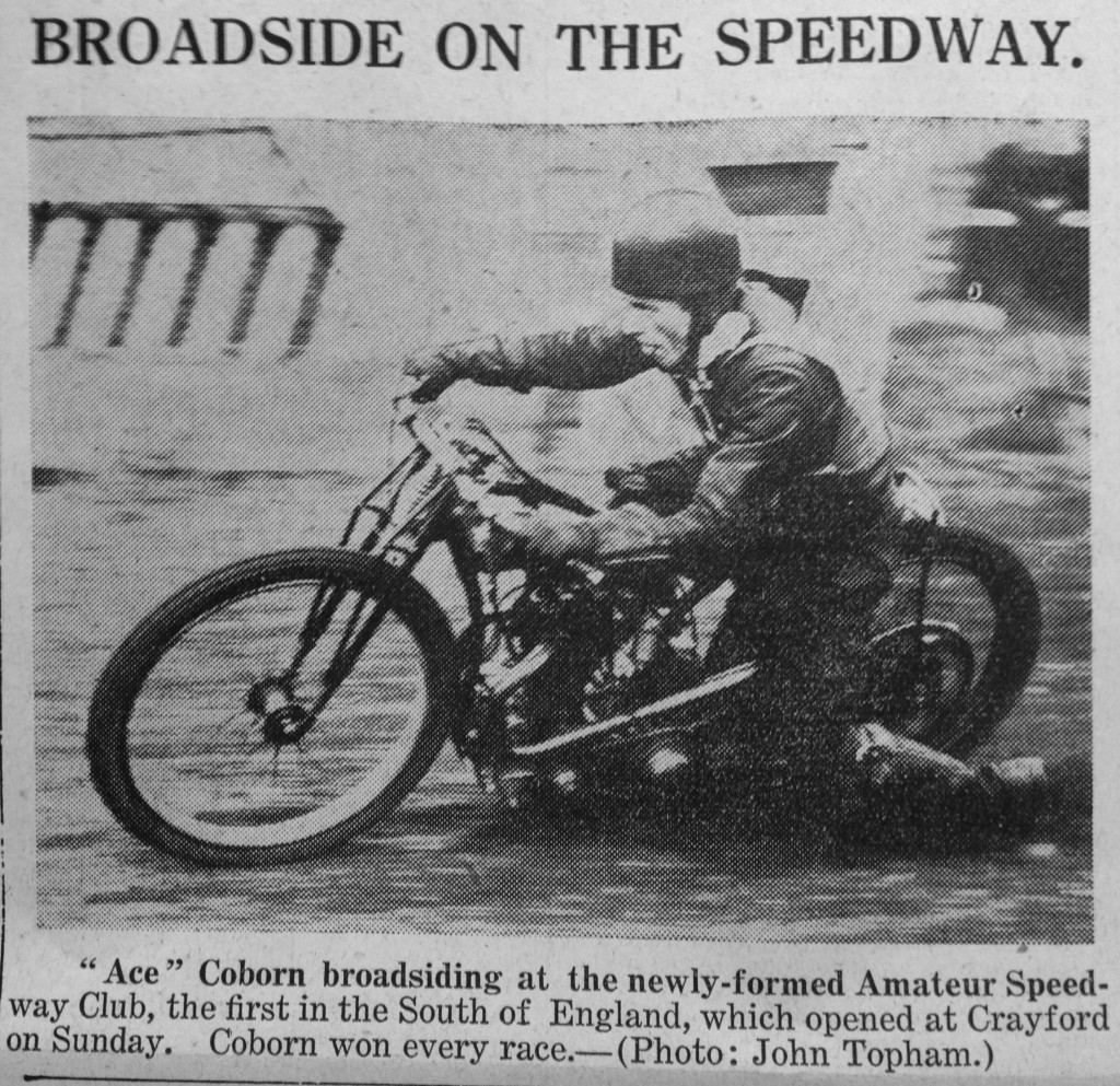 'Ace' Coburn at Crayford 1935